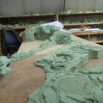 A small section of the 1:30 maquette